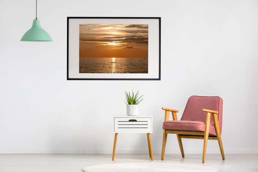 Fiskare solnedgång